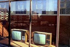 Fernseher im Schaufenster