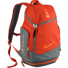 Nike Hoops Elite Max Air Team Backpack 80 Liked On Polyvore Featuring Bags Backpacks Orange School Day Hiking Red