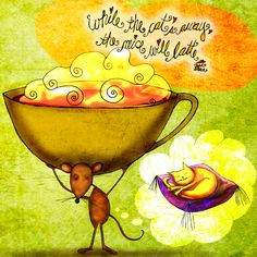 (What my #Coffee says to me is a daily, illustrated series created by Jennifer R. Cook )