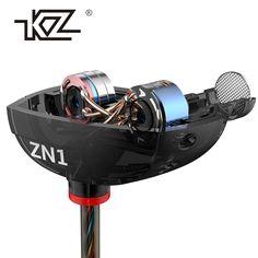 KZ ZN1 Earphones Mini Dual Driver Extra Bass Turbo Wide Sound gaming headset mp3 DJ Field Headset fone de ouvido auriculares