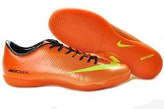 Cheap Nike Mercurial Vapor IX IC mens leather Cristiano Ronaldo CR7 Didier Drogba soccer cleats orange green