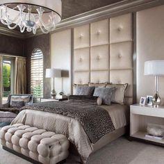#quarto #luxuoso #cinza