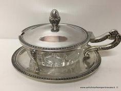 Argenti antichi - Oggetti vari in argento  Formaggiera in argento - Formaggiera in argento stile Impero Immagine n°1