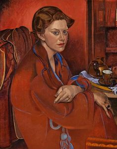 ♀ Painted Art Portraits ♀  Wyndham Lewis
