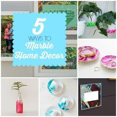 DIY Home Decor   Are you loving marble like me? Check out these five DIY projects to incorporate marble into your decor!