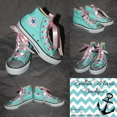 New Rhinestoned Converse Hightops by EverSoCuteDesigns on Etsy 484308ce1