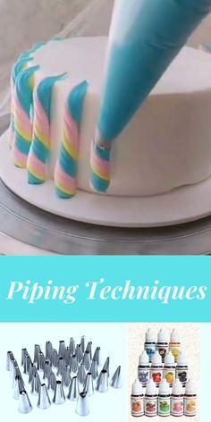 Cake Decorating For Kids, Cake Decorating Frosting, Cake Decorating Designs, Cake Decorating Techniques, Cake Decorating Tutorials, Cookie Decorating, Cake Piping Techniques, Cake Designs For Kids, Fondant Cakes