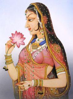 rajput-princess , Bani-Thani Kishangarh Rajasthan India https://www.facebook.com/nikhaarfashions