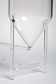MEASUREMENTS designed by Dean Brown - The codes and conventions of technical drawing are embedded into the glass itself – represented as annotated dimension lines that convey height and diameter. The statement is ironic, considering the drawings are made 1:1 scale, and the dimension lines are dissociated with their numerical values. #drawingglass #fabricadesignstudio #fabrica #design #glass #deanbrown #massimolunardon