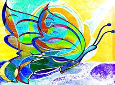 'Treble-Musical Butterfly'    Artwork By Catherine Harms  http://catherine-harms.artistwebsites.com/    http://www.facebook.com/AbstractDigitalArtwork