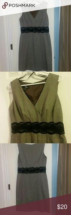 Grey and black dress Sleeveless. No stretch. AGB Dresses