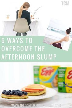 5 Ways To Overcome The Afternoon Slump and Get More Done using these productivity tips and hacks - The Confused Millennial, millennial blog #eggomyway #ad