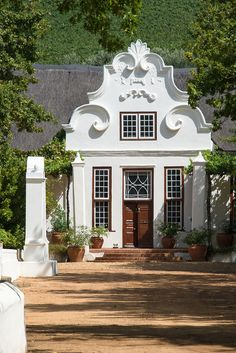 Villas, Painted Brick Exteriors, Cape Dutch, African House, Dutch House, D House, Dutch Colonial, Cape Town South Africa, English House