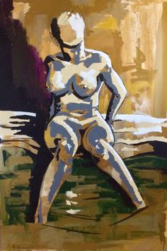 Mel. Informal study in gold. 150x100cm Acrylics on Canvas.  #art #painting #portrait #figurative #figure #figurativepainting #illustration #artist #model #muse #pose #sensual #desire #love #passion #gold #skin #nude #naked #beautiful #beauty #london #artist #londonartist #sale #artcollector #artgallery