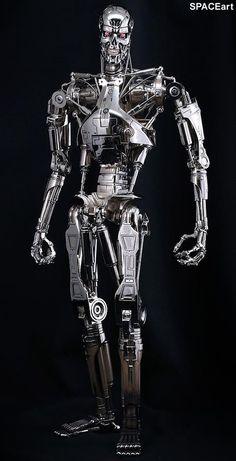 from ''The Terminator'' Terminator Tattoo, T 800 Terminator, Terminator Movies, Skynet Terminator, Arte Horror, Horror Art, Terminator Endoskeleton, Science Fiction, Nemesis Prime