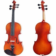 Cecilio 18 CVN300 Ebony Fitted Solid Wood Violin -- Details can be found by clicking on the image.Note:It is affiliate link to Amazon.