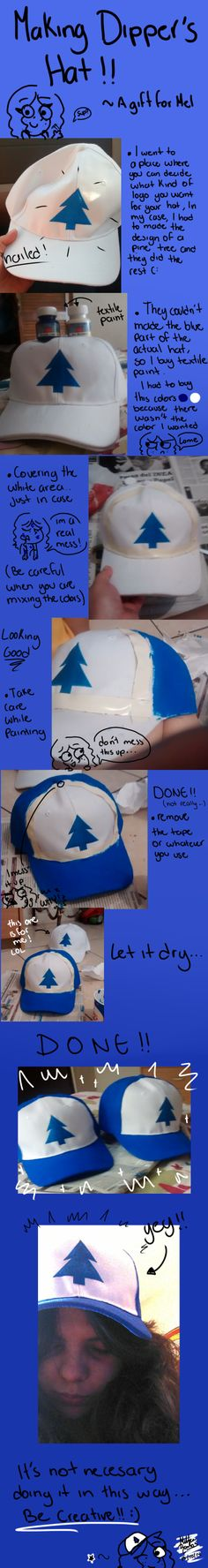 Making Dipper's hat by MeeeLifer.deviantart.com on @DeviantArt