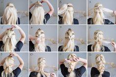 Hair Tutorial | Pull-through chunky braid/plait | Grace and Braver | Hair Beauty and Lifestyle blog