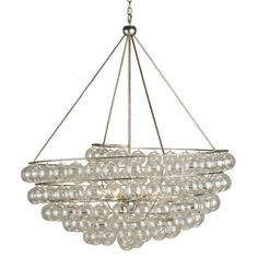 Currey & Company Stratosphere Chandelier - this is by far my favorite, I have seen it in so many showrooms, and the scale of it is so large, it is just beautiful and luxurious!