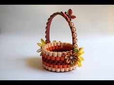 How to make Paper Baskets - YouTube