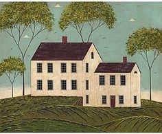Image detail for -decorative box of warren kimble house with red frame cards