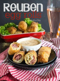 Reuben Egg Rolls! Oh mama, these are soooo delicious!