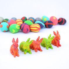 Miniature Easter Garden Bunnies and Eggs, Spring in the Fairy Garden or Terrarium, Handmade - #miniaturegarden
