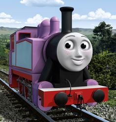 Rosie is a tank engine who idolises Thomas. Rosie began idolising Thomas to the point of hero-worship and imitation. Though this is said to be the most sincere form of flattery, it only served to irritate Thomas whilst he was trying to deliver a special birthday post train to Alice at High Farm. He even started to try and avoid her, but after Thomas had an accident in the course of delivering this train, Rosie helped him and he came to respect her.
