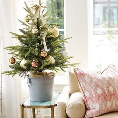 Looking for the Bucket Tabletop Christmas tree to help Deck Your Halls this season? Shop Ballard Designs for fun new Christmas and Holiday items. Get the Bucket Tabletop Christmas tree here and show off your festive style! Christmas Design, Christmas Holidays, Christmas Wreaths, Christmas Ornaments, Christmas Ideas, White Christmas, Christmas Quotes, Christmas Nails, Cozy Christmas