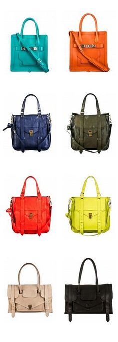 Want something like these bags. And I love the colors!