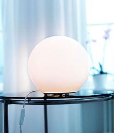 mid-century inspired globe light from IKEA