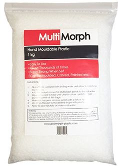 MultiMorph - Polymorph Mouldable Plastic Pellets 250g - AKA Shapelock Plastimake InstaMorph in Resealable Bag. Highest QUALITY! Made in UK.