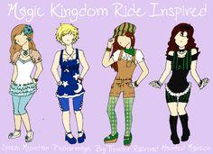 Magic Kingdom Ride Couture by jikosangel.deviantart.com on @DeviantArt