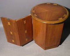 Mid Century Danish Modern Bowtie Lane End Library Drum Table 900 96 | eBay. Another piece apparently from the Lane Acclaim collection.