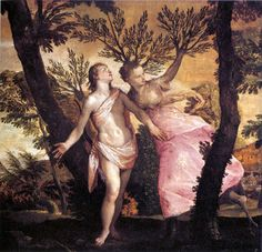 Paolo Verones - Apollo and Daphne. Tags: apollo, apollon, daphne, dafne, nymphs, transformations, naiads,