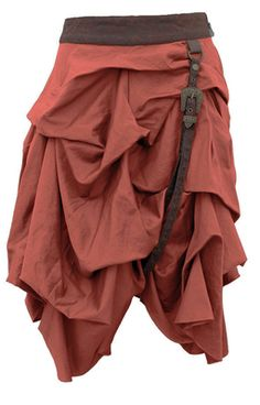 Check out this item on The Violet Vixen Gathering Gasps Steampunk Tan Skirt #thevioletvixen