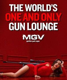 """Machine Guns Vegas"" World's First VIP Gun Lounge. I would go shoot guns in a safe environment with a shooting coach. #ExpediaThePlanetD"