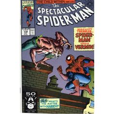 SPECTACULAR SPIDER-MAN #179 | Marvel Comics | August 1991 | Vermin