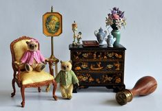Estate Treasure: Chinoiserie Chest of Drawers by Judith Dunger — Petit Connoisseurs Beatrix Potter, Chest Of Drawers, Chinoiserie, Dollhouse Miniatures, Art Gallery, Artisan, Childhood, Happy Birthday, Blue And White