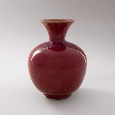 Brother Thomas, Small vase, copper red glaze, porcelain, x x Bottle Vase, Bottles, Copper Red, Tea Bowls, Pottery Vase, Porcelain Ceramics, Little Red, Sculpture Art, Brother
