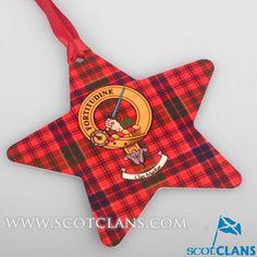 MacRae Clan Crest Christmas Ornament