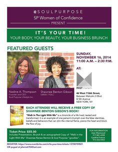NY, don't miss this event... It's YOUR Time Business Brunch! https://www.eventbrite.com/e/its-your-time-tickets-13758759821