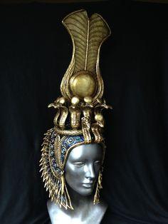 Cleopatra Headdress, Egyptian Headpiece, Cleopatra Costume, Egyptian Costume, Egyptian Art, Arab Fashion, Fashion Women, Isis Goddess, Modesty Fashion