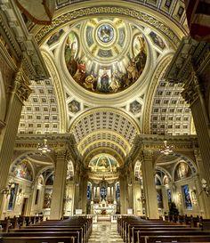 St Catherine's Church, Spring Lake, NJ -Church interior wide shot HDR by LennyNJ, via Flickr