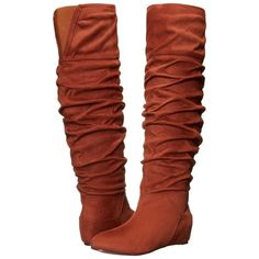 Michael Antonio Bendit (Whiskey) Women's Boots ($30) ❤ liked on Polyvore  featuring