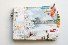 beautiful travel journal made by celine navarro using SC Summer of 69 kit