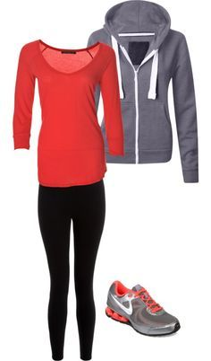 Época de retomar el gym y los ejercicios en casa. Hay multitud de outfits para acudir al gym, de todo tipo de presupuesto. Esta opción es low cost. ¿Qué te parece?  #outfit #Nike #gym #chica #moda