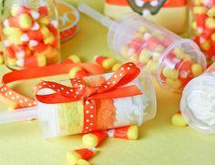 Candy Corn Push -Up Pops