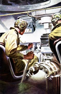 Sherman Tank crew, yeah you DREAMED you had this much room in there, i've been in one and it's a claustrophobic death trap.
