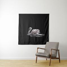 Gorgeous Double Exposure Swan Roses Photo Art Tapestry - minimal gifts style template diy unique personalize design